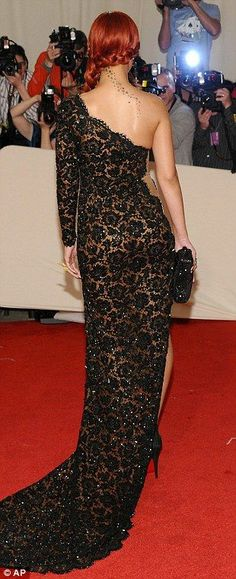 black lace gown...