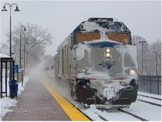 Don't drive in the snow! Let us take you home for the holidays :) Thank you, Robby Gragg, for capturing our train in winter's wonderland!