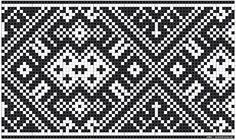 Bunad, Smykker, vev & rosemaling: Bunad Knitting Charts, Loom Knitting, Knitting Stitches, Lace Patterns, Beading Patterns, Stitch Patterns, Hardanger Embroidery, Machine Embroidery, Cross Stitch Borders
