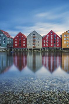 Trondheim is a city on the Trondheim Fjord, in central Norway. Beautiful Places To Visit, Beautiful World, The Places Youll Go, Places To Go, Travel Photographie, Trondheim Norway, Scenic Photography, Night Photography, Photography Tips