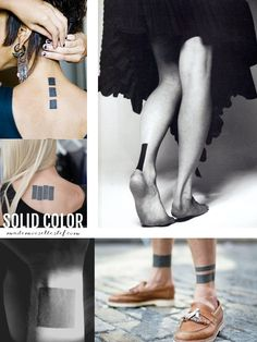 Tattoo ideas - solid color - Mademoiselle Stef http://www.mademoisellestef.com