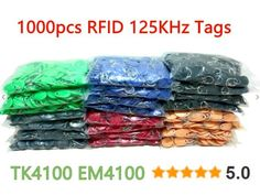 [Visit to Buy] 100pcs RFID 125KHz Tag 8 Color TK4100 EM4100 Proximity Keyfobs Tags RFID Card for Access Control Time Attendance #Advertisement