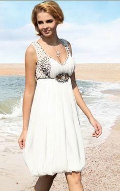 Apfelförmiges Perlenbesetztes sexy legeres Abschlusskleid für mittel Größe
