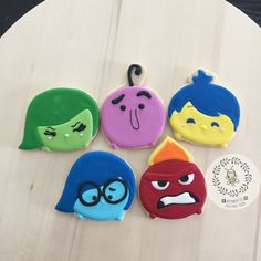 #insideout #insideoutcookies #insideouttsumtsum #sugarcookies #etsy @busybee0715 #busybee0715 #tsumtsum #tsumtsumcookies
