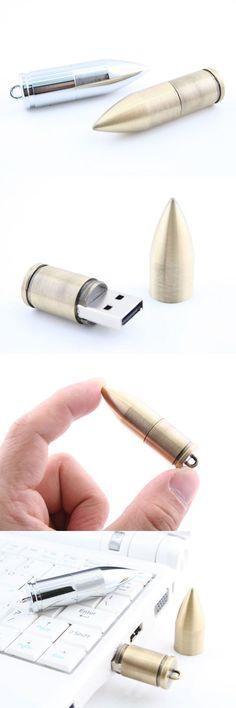 Bullet USB Drive http://www.usbgeek.com/products/bullet-usb-drive