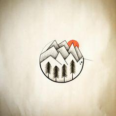 Disponible @atelier_de_lencre #atelierdelencre #salondetatouage #tattooshop #instatattoo #mountain #montagne #mountains #mountaintattoo #tatooed #dot #dots #dottattoo #graphictattoo #graphic #trees #treestattoo #tree