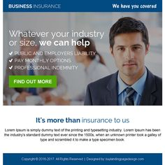 Professional Business Insurance Ppv Landing Page Design