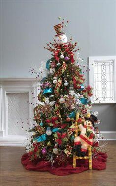 Holiday Decor -- Snowman Christmas Tree かわいすぎて、雪だるまを探してしまいます