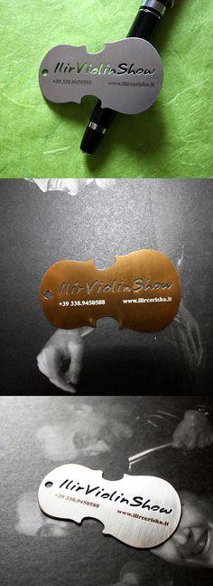 Violin Metal Cut | Business Cards | The Design Inspiration