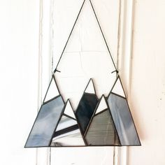 Excited to share the latest addition to my #etsy shop: Stained Glass Mountains #stainedglass #suncatcher #tree #glass Stained Glass Ornaments, Stained Glass Suncatchers, Stained Glass Lamps, Stained Glass Designs, Stained Glass Projects, Stained Glass Patterns, Leaded Glass, Stained Glass Windows, Mosaic Glass