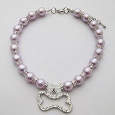 PETFAVORITES Engraved Crystal Bone Dog Necklace Collar Jewelry with Bling Pearls Rhinestones Charm for Pets Cats Small Dogs Girl Teacup Chihuahua Yorkie Clothes Costume Outfits (Purple, Size: ** Click image for more details. (This is an affiliate link) Dog Necklace, Engraved Necklace, Collar Necklace, Yorkie Clothes, Rhinestone Dog Collar, Cat Dog, Pet Collars, Animal Jewelry, Dog Accessories