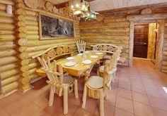 log furniture for home decorating