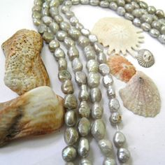 These gorgeous Fresh Water Pearls Natural Pearl Shell will make fabulous Mother's Day necklaces!