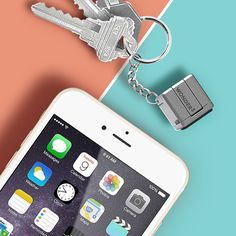 All-in-1 smartphone accessory that packs everything you'll need on the go into a 1-inch cube! A tiny keyring for charge, sync, stand...& much more.