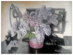 Femlora: Pictor, Grafician: Preaplin de liliac