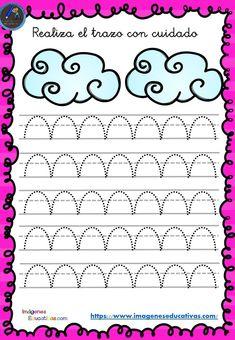 Pre-writing and perfecting calligraphy sheets - - Preschool Writing, Preschool Education, Preschool Printables, Kindergarten Worksheets, Preschool Crafts, Tracing Worksheets, Alphabet Worksheets, Pattern Worksheet, Pre Writing