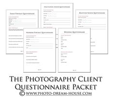 Photography release forms photography pinterest photography photography client questionnaire packet fandeluxe Images