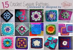15 Crochet Square Patterns – Reviewed or Designed by Stitch11