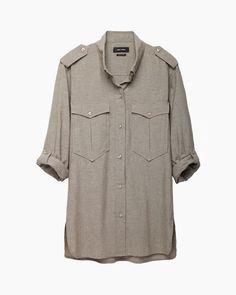 Isabel Marant | Filipa+Double+Pocket+Chambray+Shirt | La Garçonne