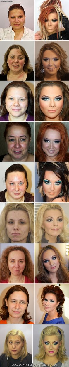 The magic of make-up. Nobody is perfect. OMG.
