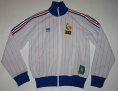 RETRO ADIDAS FRANCE FOOTBALL CARRE MAGIQUE WORLD CUP 82 TRACKSUIT JACKET TOP M