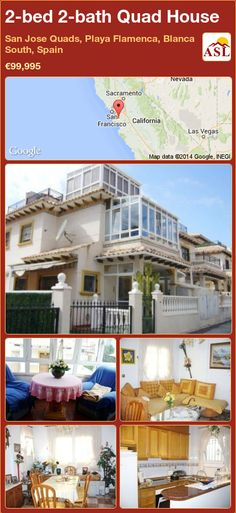 Quad House for Sale in San Jose Quads, Playa Flamenca, Blanca South, Spain with 2 bedrooms, 2 bathrooms - A Spanish Life Stained Glass Door, Making Stained Glass, Quad, San Jose, Las Vegas, Portugal, Built In Robes, Sun Canopy, South Of Spain