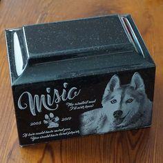 Medium Granite Pet Cremation Urn Pet Photo Urn Custom Photo Pet