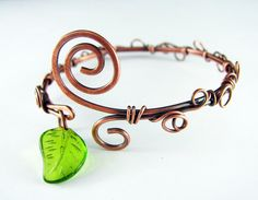 Wire Wrapped Bracelet Copper Bracelet! This is so me :-)  - sweet