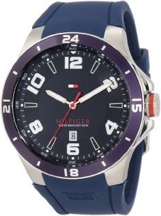 Tommy Hilfiger Mens 1790862 Sport Bezel and Silicon Strap Watch * Check out the image by visiting the link.(This is an Amazon affiliate link)