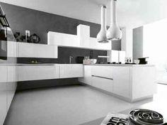 cuisine élégante en blanc et anthracite par Cesar