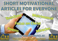 Motivational Articles, Short Article, For Everyone, Teenagers, Christ, Marriage, Inspirational, Reading, Link