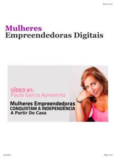 Confira no SlideShare Mulheres empreendedoras digitais by Danielle Fidelis via slideshare