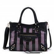 JSR Two Tone Motorcycle-Inspired Bag/Shoulder Handbag - Purple