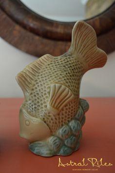 Super Adorable Retro Porcelain Fish Figurines. #Pink
