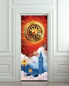 Door STICKER Rubinrot Timeless ruby book movie magical by Wallnit, $39.99
