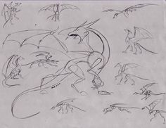 Dragon Poses by fangdracona.deviantart.com on @DeviantArt