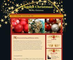 Natal elegante template Blogger  Natal elegante template Blogger -  Elegant Christmas Template - Template de Natal para Blogger