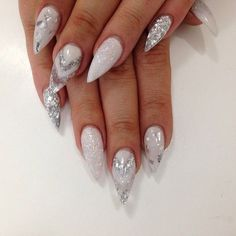 Are you looking for gold silver white bling glitter wedding nails? See our collection full of gold silver white bling glitter wedding nails and get inspired!