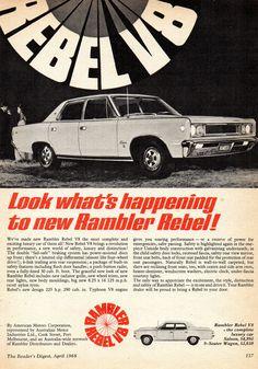 https://flic.kr/p/VS8eYQ | 1968 Rambler Rebel V8 Sedan Aussie Original Magazine Advertisement