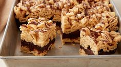 These might be the devil. But they are wearing a blue dress ;) Brownie Batter Peanut Butter Chex bars!!