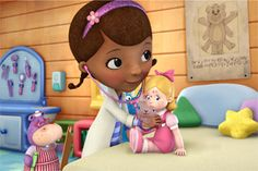 """Doc Mcstuffins """"Because 88% of Americans learn about health issues from television, CDC recognizes that prime time and daytime television programming are great outlets for our health messages. The CDC works in partnership with Hollywood, Health & Society (HH&S) at the University of Southern California's Norman Lear Center to share public health information with storyline creators."""""""