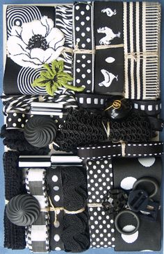 crazy quilting embellishments | ... Crazy Quilt Embellishment Assortment - Black & White, Crazy Quilt
