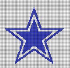 Free Cross Stitch Pattern - Dallas Cowboys Star