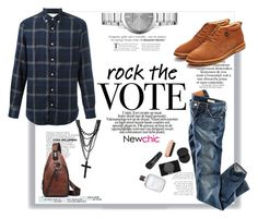 """""""NewChic #22 (Men 08)"""" by railda-pereira ❤ liked on Polyvore featuring Officine Generale, Burberry, H&M, Kenneth Cole, men's fashion, menswear, chic, New, newchic and rockthevote"""