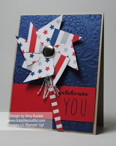 Card using June Pinwheel Party Kit