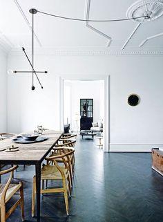 gray blue decor in modern dining area / sfgirlbybay
