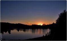 sunset Albert lake