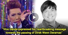 [Todays Viral] Vice Ganda expressed his heart breaking message on Twitter towards the passing of Direk Wenn De Ramas