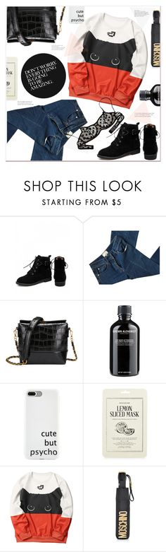 """""""don't worry everything is going to be amazing"""" by mycherryblossom ❤ liked on Polyvore featuring 3.1 Phillip Lim, Grown Alchemist, Kocostar and Moschino"""