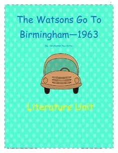 essay questions for watsons go to birmingham Thoughtful, higher-order thinking discussion questions for literature circles or  book clubs the book is broken into eight segments, based upon chapter length.